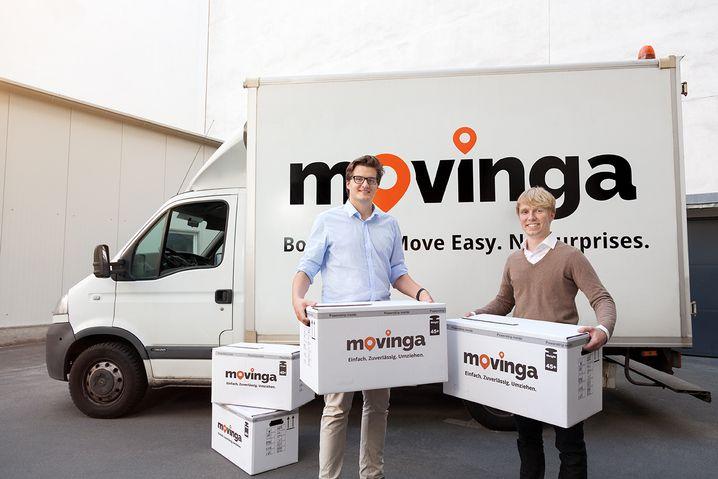 Abgesetzte Movinga-Gründer Chris Maslowski (links) und Bastian Knutzen
