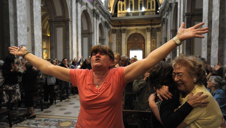 """Reaktionenin Argentinien: """"Wir haben Messi - und jetzt den Papst"""""""