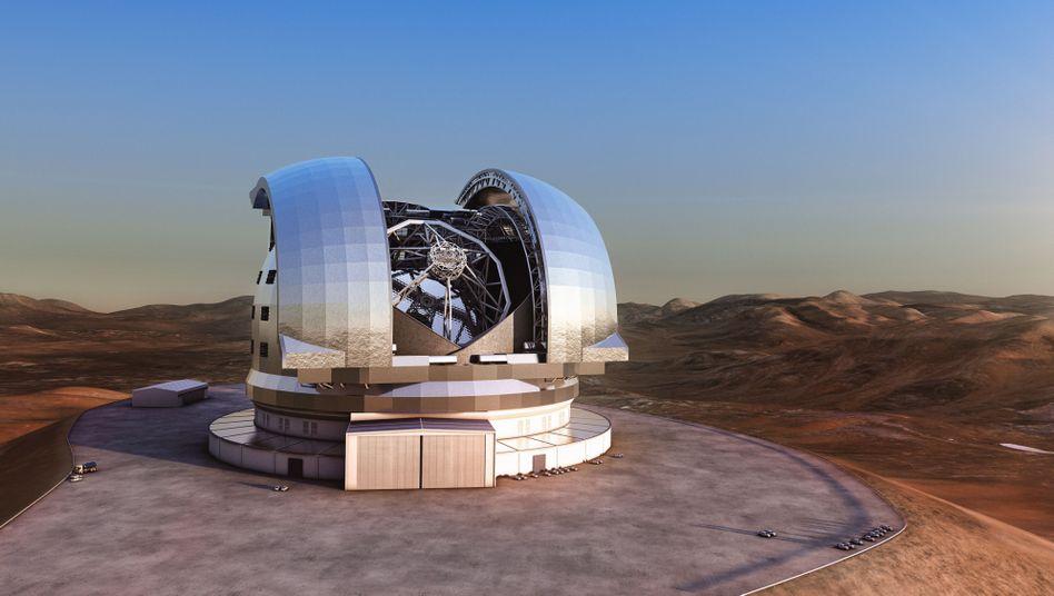 European Extremely Large Telescope (Grafik): Bau hat schon begonnen