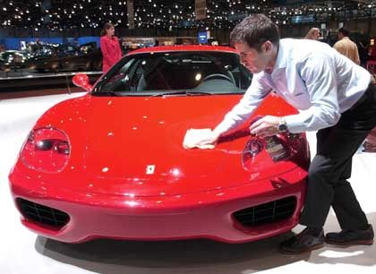 Glänzender Auftritt: Der Ferrari 360 beim Genfer Automobilsalon