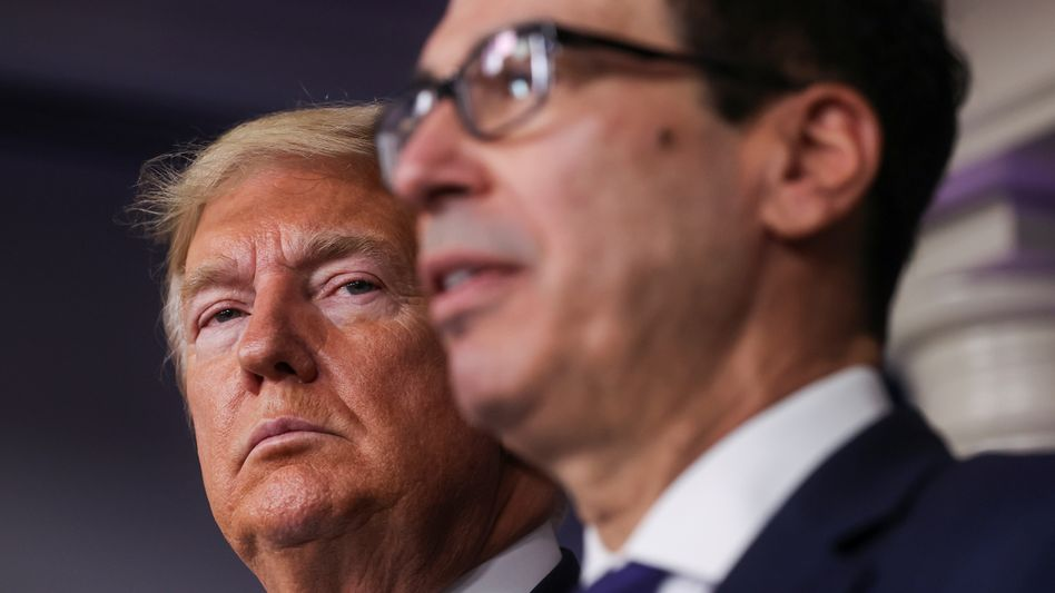 Donald Trump und Steven Mnuchin