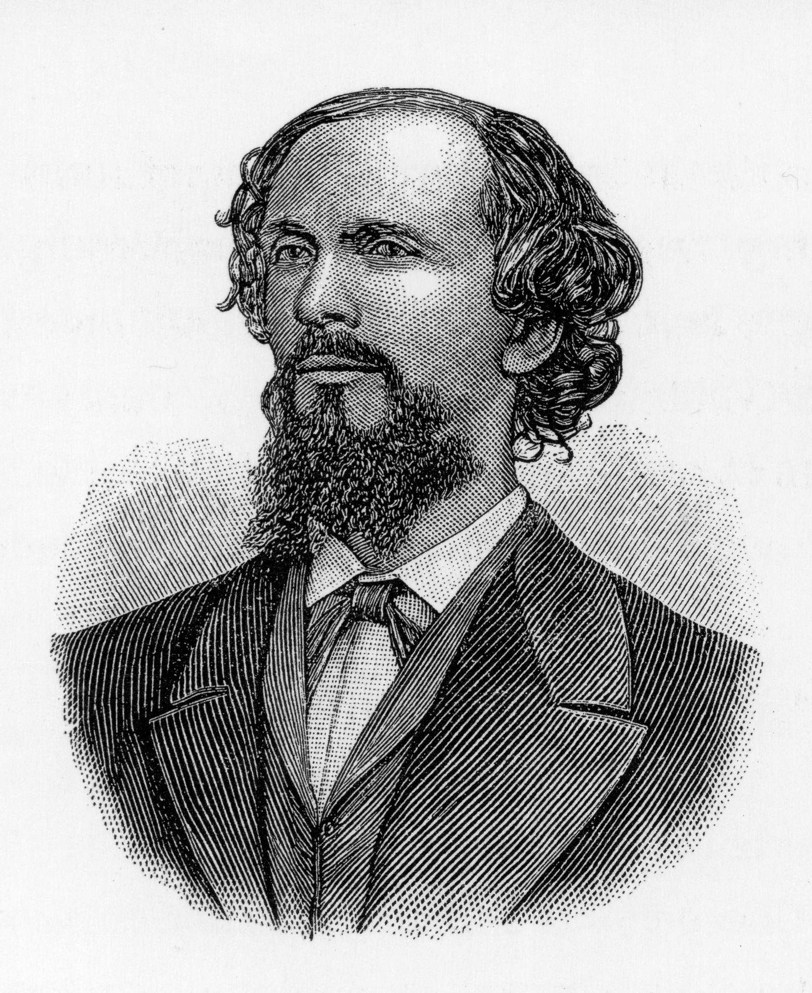 Portrait of Karl Heinrich Ulrichs. Appeared originally in Jahrbuch für sexuelle Zwischenstufen, vol. 1 (1899), p. 35. (Historical Views)