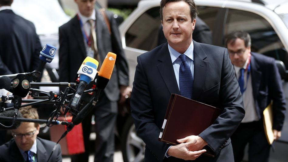 British Prime Minister David Cameron wanted to talk about agricultural subsidies on Thursday.