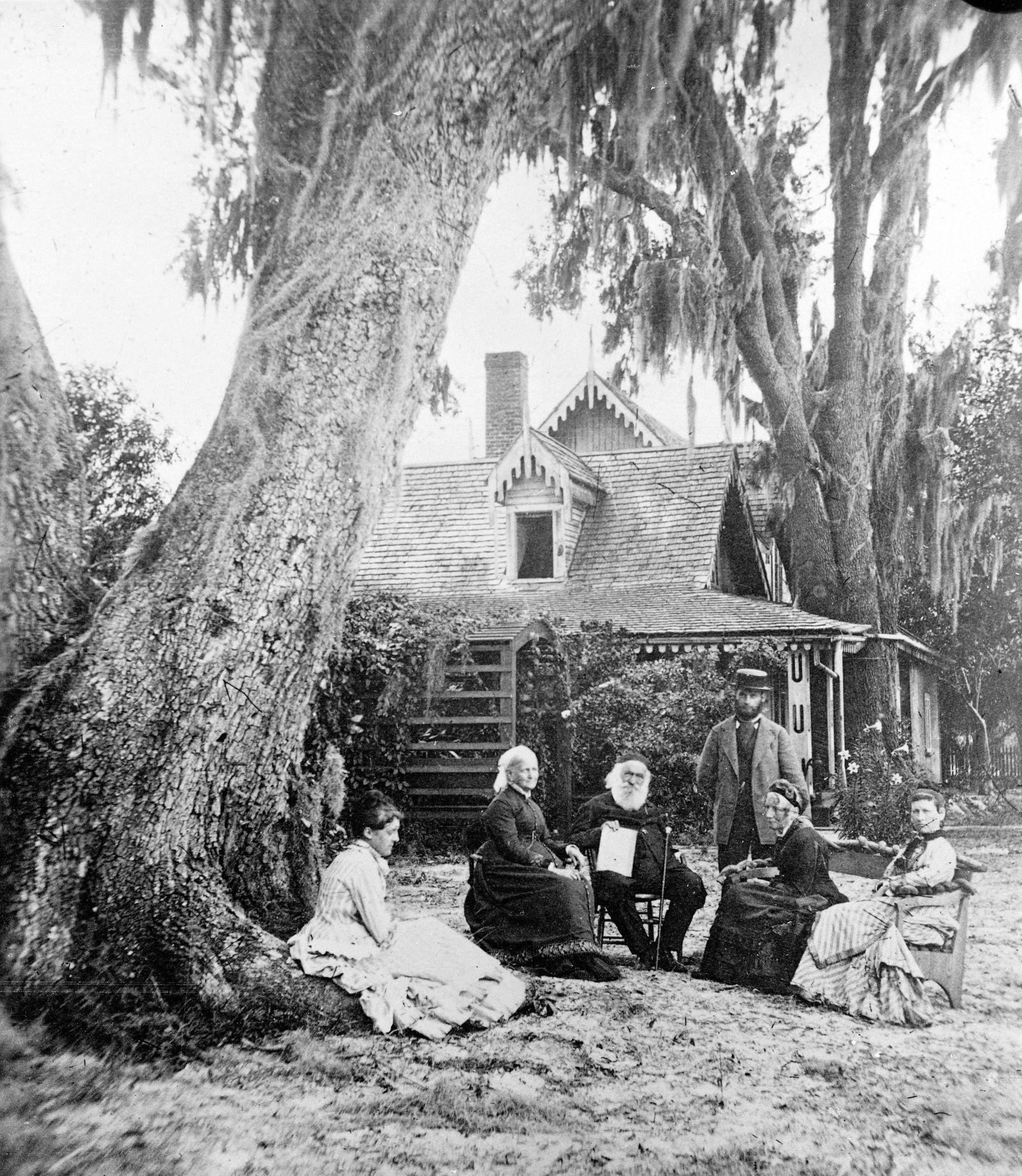 Harriet Beecher Stowe & Husband At Home