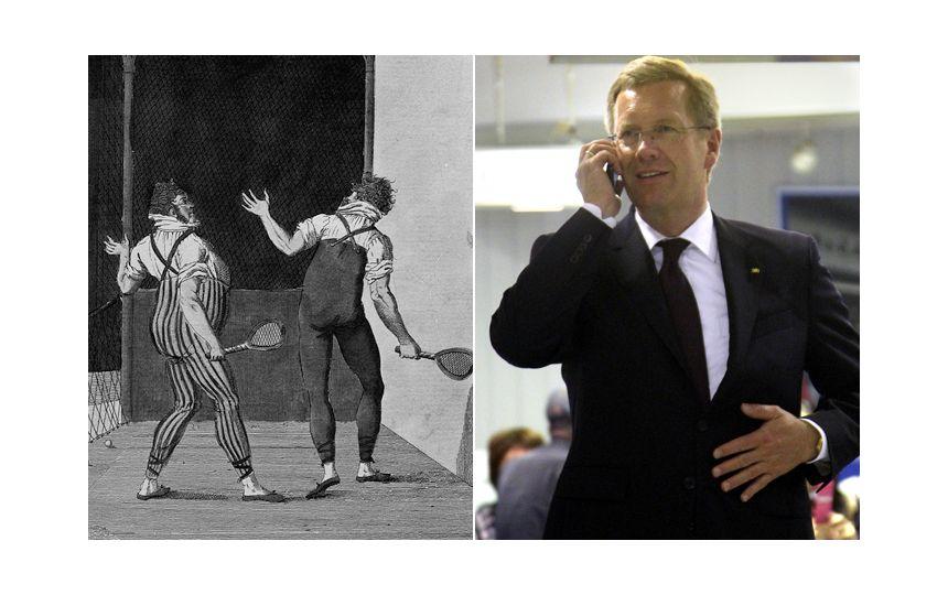 EINMALIGE VERWENDUNG NUR FÜR EINESTAGES - Erfindung des Tennis und Christian Wulff
