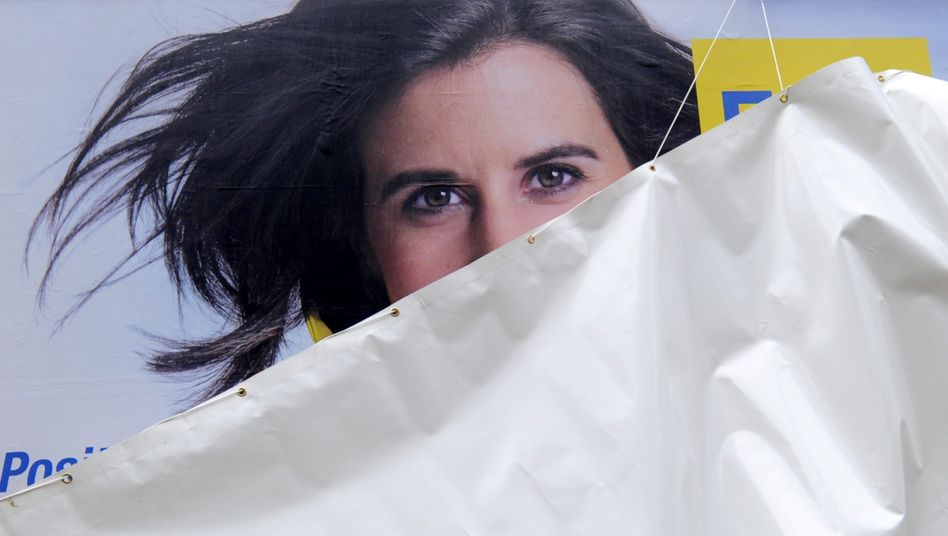 Wahlplakat von Hamburgs FDP-Spitzenfrau Katja Suding: Ist die Partei ein Männerverein?