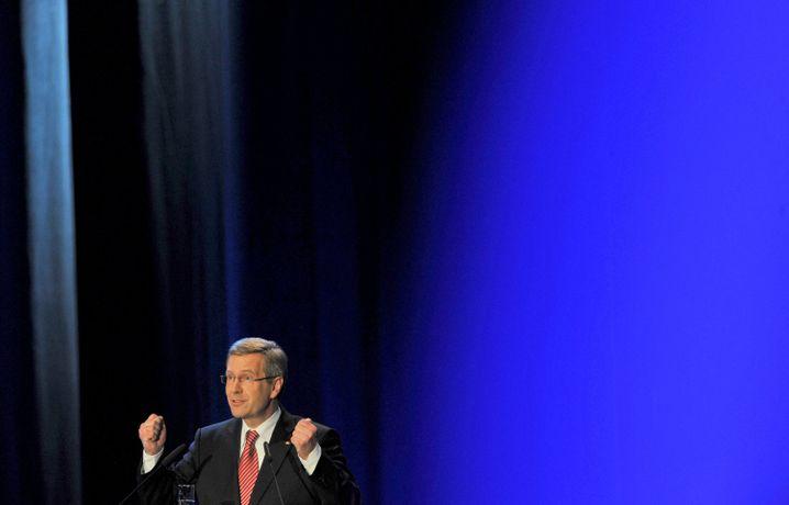 Bundespräsident Christian Wulff am Tag der deutschen Einheit 2010