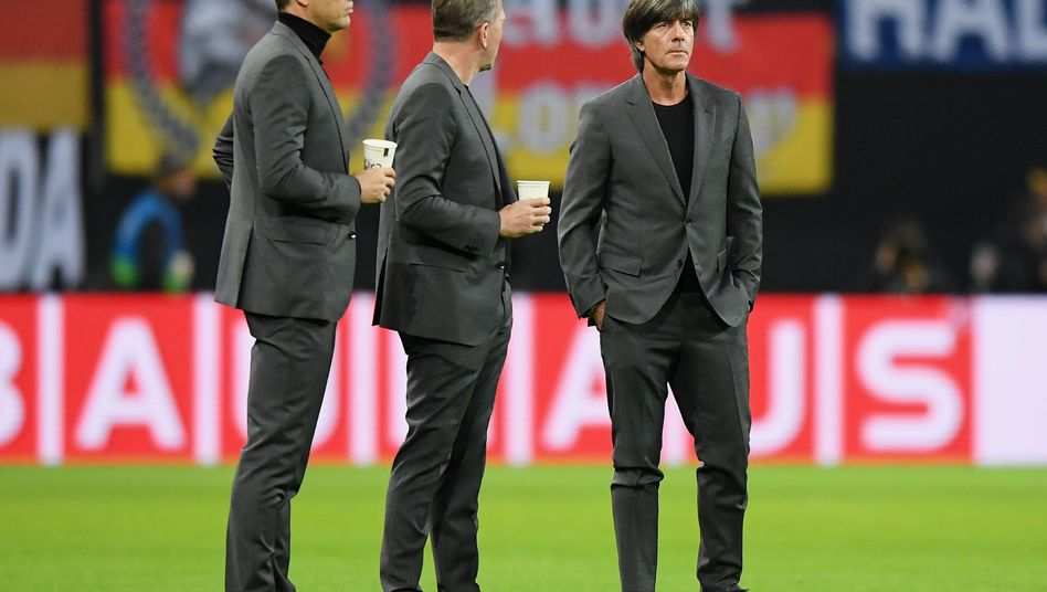 Oliver Bierhoff, Andreas Köpke und Joachim Löw (von links)