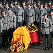 Twenty-one German deaths in Afghanistan have shaken Berlin's political will. The country is still nervous about war.