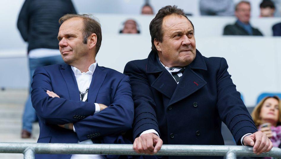 Hamburger Funktionäre: Vorstandsvorsitzender Bernd Hoffmann (links) und Aufsichtsratsvorsitzender Max-Arnold Koettgen