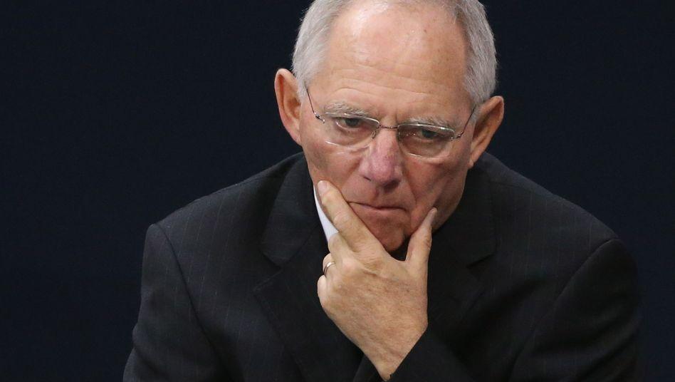 Bundesfinanzminister Schäuble: Medien weisen Bitte zurück