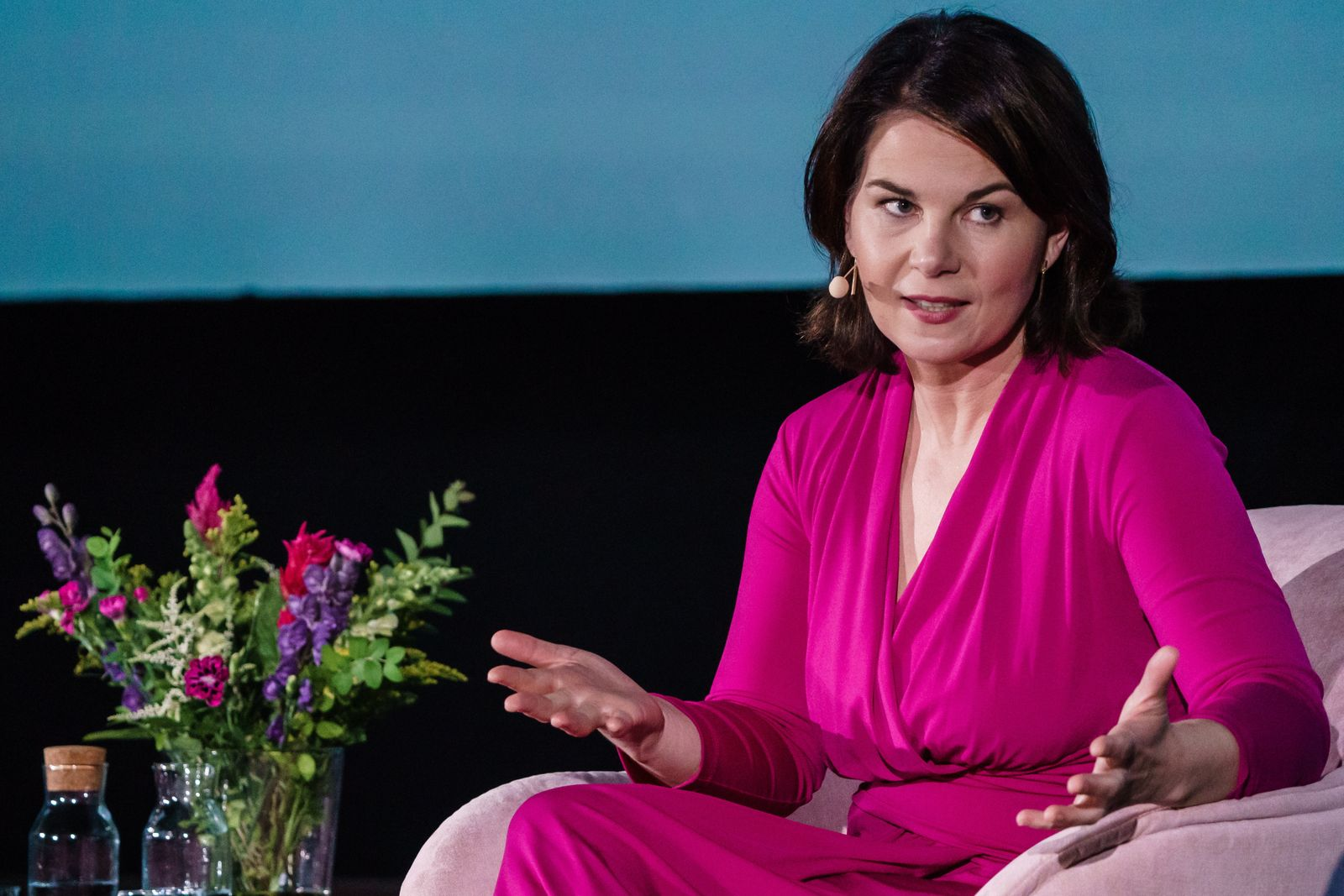 Green party federal elections top candidate Annalena Baerbock participate in Brigitte-Live talk