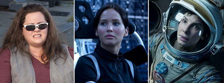 Füllten die Kinokassen: Melissa McCarthy, Jennifer Lawrence, Sandra Bullock