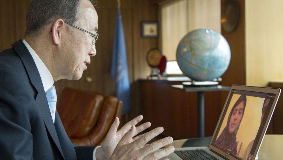 Uno-Generalsekretär Ban im Videochat mit Malala: Auftritt vor Uno geplant