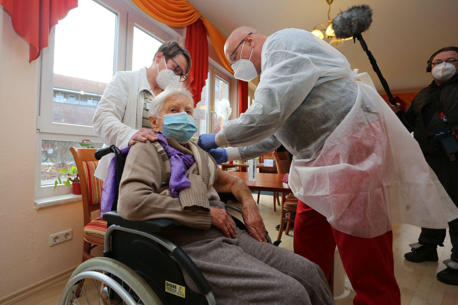 Coronavirus - Impfbeginn Sachsen-Anhalt
