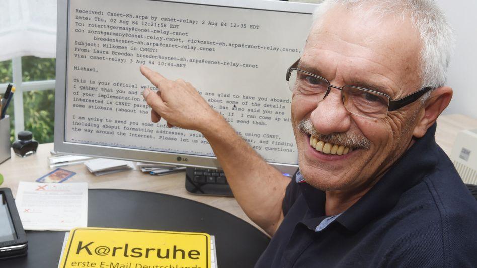Anfang allen Übels: Michael Rotert hat die erste E-Mail in Deutschland erhalten
