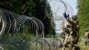 Ukraine schickt 38 Tonnen Stacheldraht für Litauens Grenze