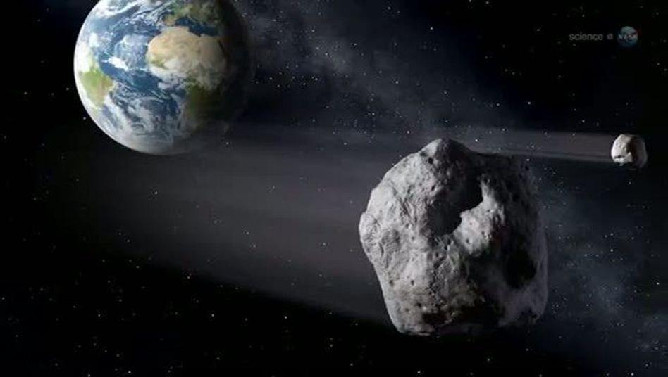 2012 DA14 (Illustration): Dichter an der Erde als die geostationären Satelliten