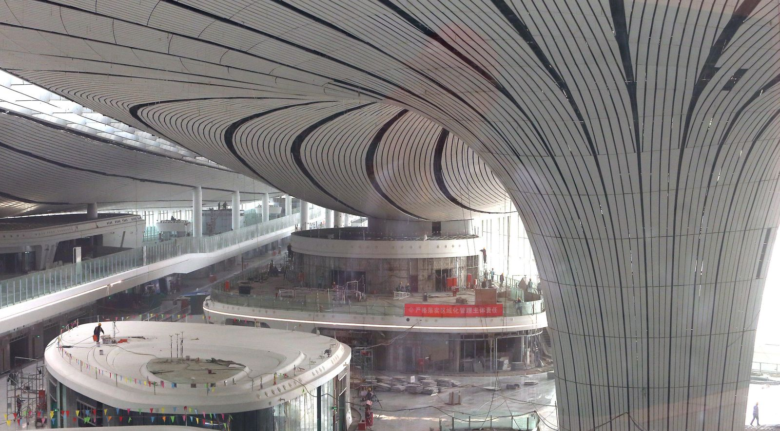 Bauarbeiten am internationalen Flughafen Peking-Daxing