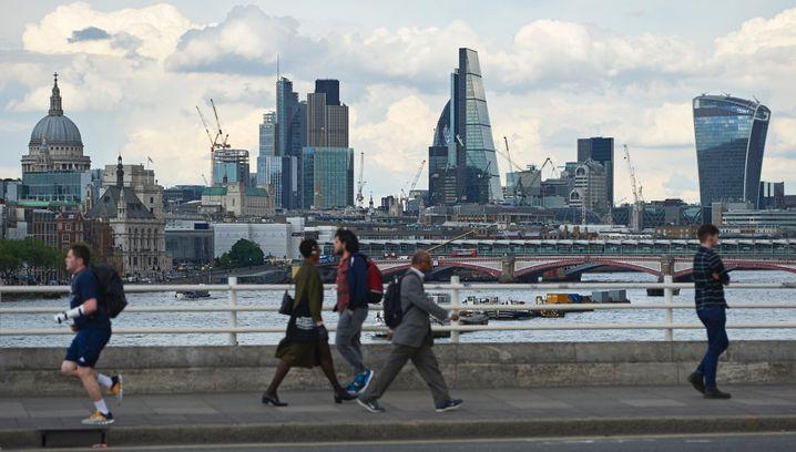 Blick auf das Londoner Bankenviertel