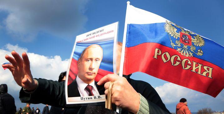 Jahrestag-Feier der Krim-Annexion in Sewastopol