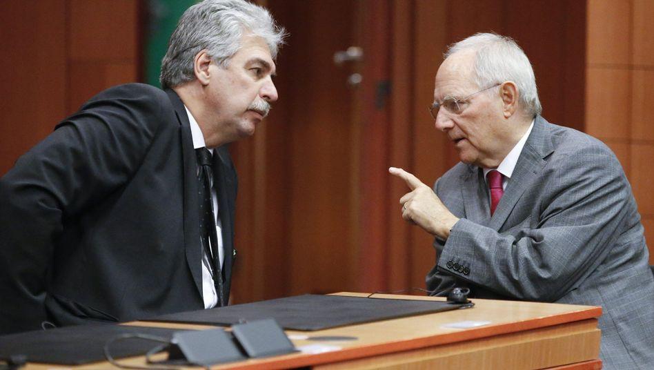 Österreichs Finanzminister Schelling und sein deutscher Kollege Schäuble: Noch keine gemeinsame Steuer