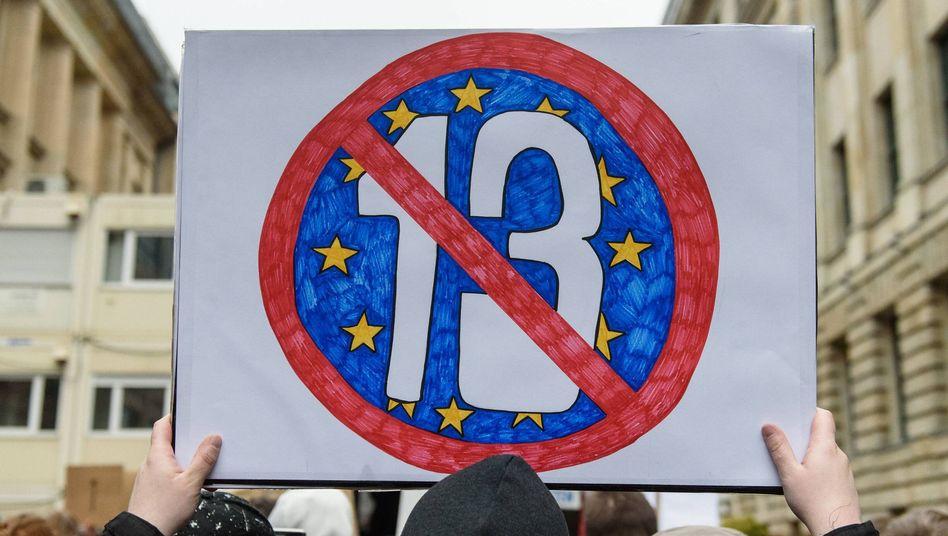 Demonstrationen gegen die EU-Urheberrechtsreform in Berlin