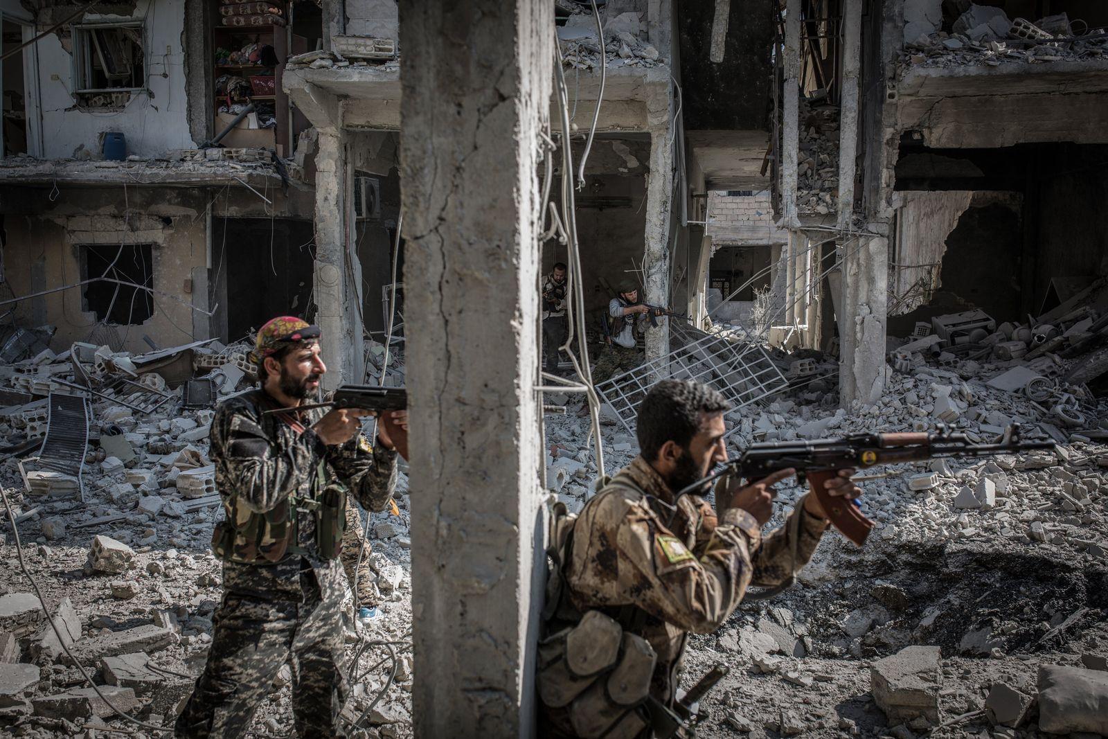 Gefechte in der Altstadt von Rakka