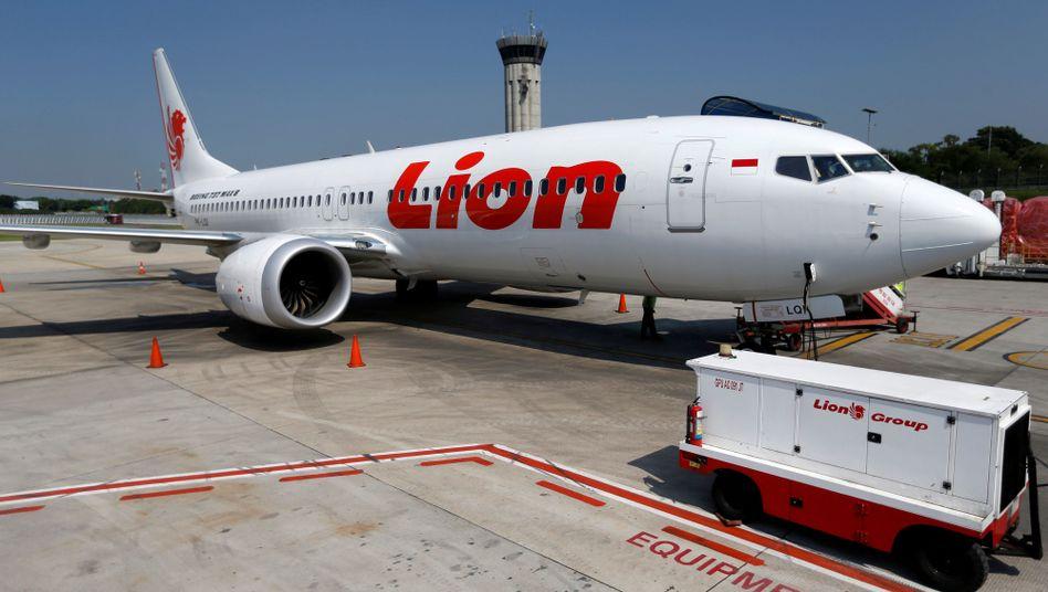 737 Max der betroffenen Fluggesellschaft Lion Air (Indonesien - Archivbild)
