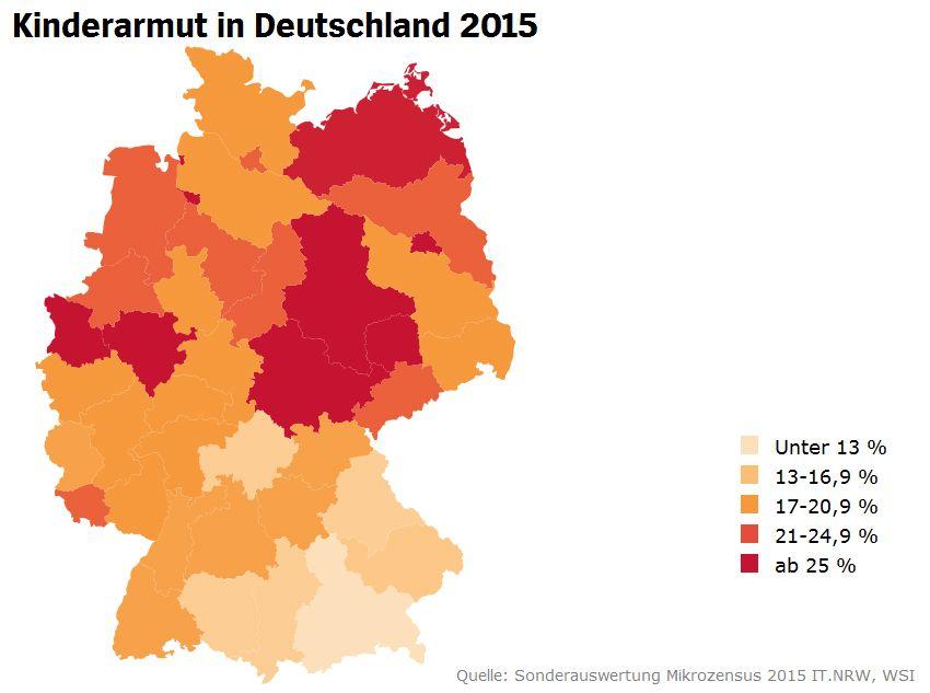 Screenshot zu Karte 131044: Kinderarmut in Deutschland