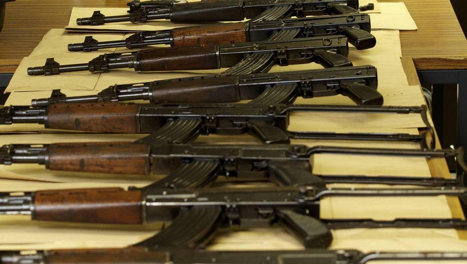 In Belgien sichergestellte Waffen