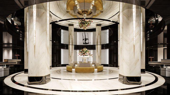 Trasforma il vecchio in nuovo: la futura hall dell'appartamento Waldorf Astorias