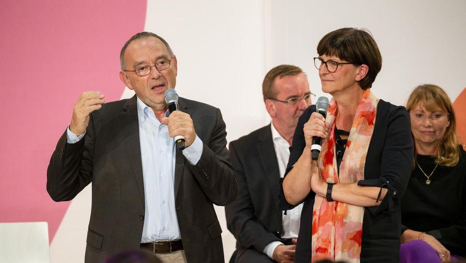 Kandidaten Norbert Walter-Borjans und Saskia Esken: SPD ehrlich empfunden