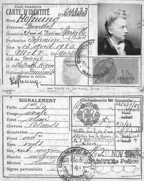 Gefälschte Identität: Marthes Ausweis von 1943 - es fehlt der rote Judenstempel