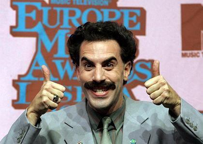 Komiker Cohen als Borat (bei den MTV Europe Music Awards): Kasachischer Chaot