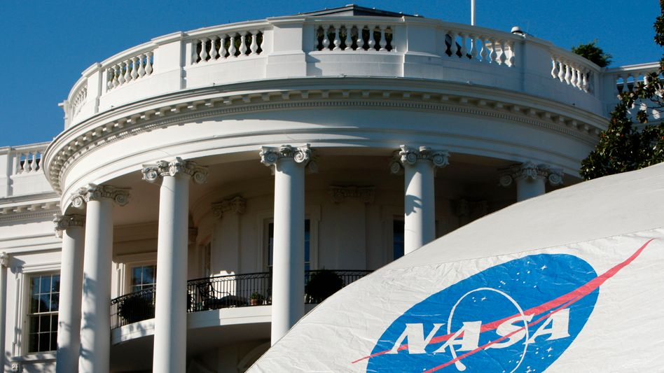 Nasa-Zelt vor dem Weißen Haus (Archivbild): Kollaborationen mit chinesischen Forschern unerwünscht