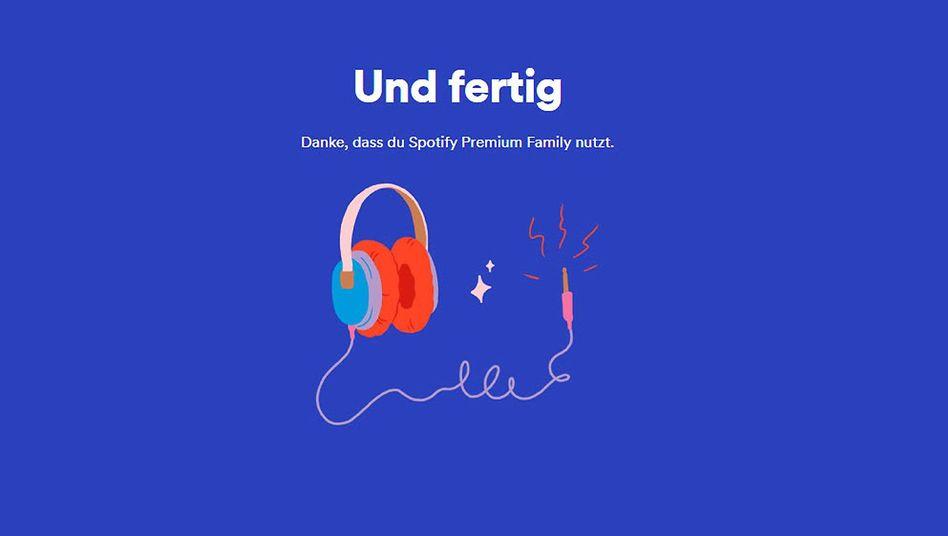 Ende der Spotify-Abfrage