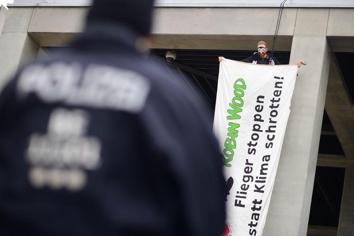 Protestaktion am BER
