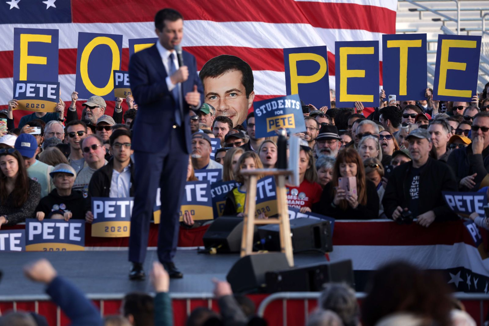 Democratic Presidential Candidate Pete Buttigieg Holds Town Hall In Virginia