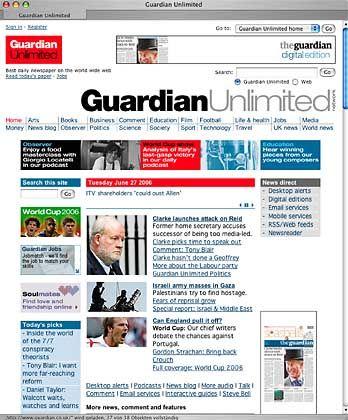 """""""Guardian""""-Webseite: Vorfahrt vor dem gedruckten Produkt"""