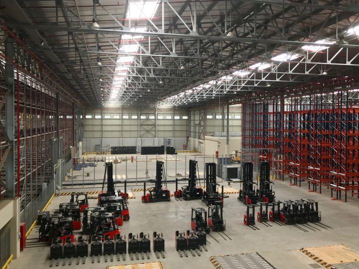 Diese Cargo-Halle von Ethiopian Airlines soll kommenden Monat ihren Betrieb aufnehmen.