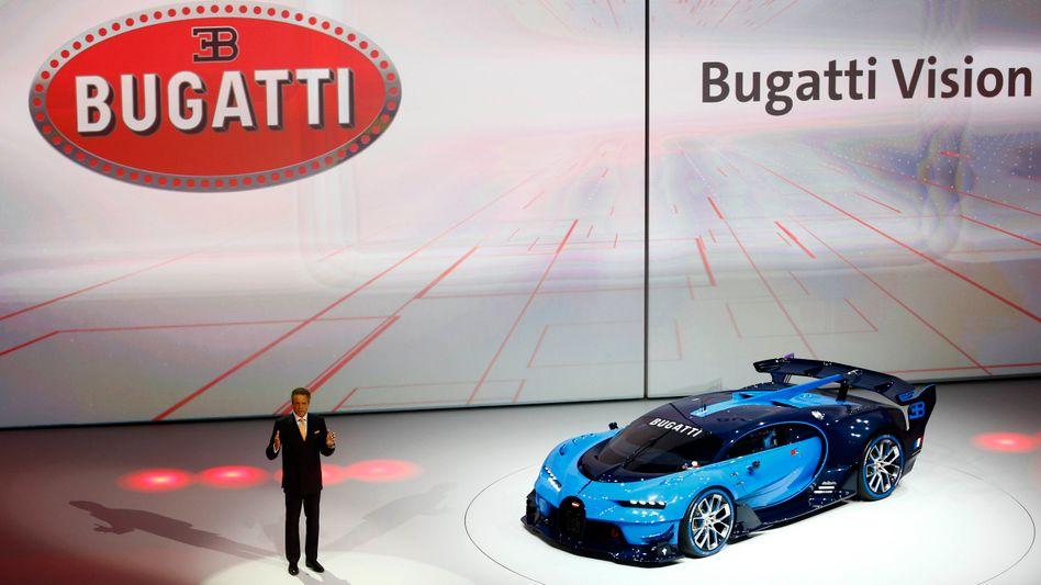 Präsentation von Bugatti in Frankfurt am Main (Archivbild von 2015)