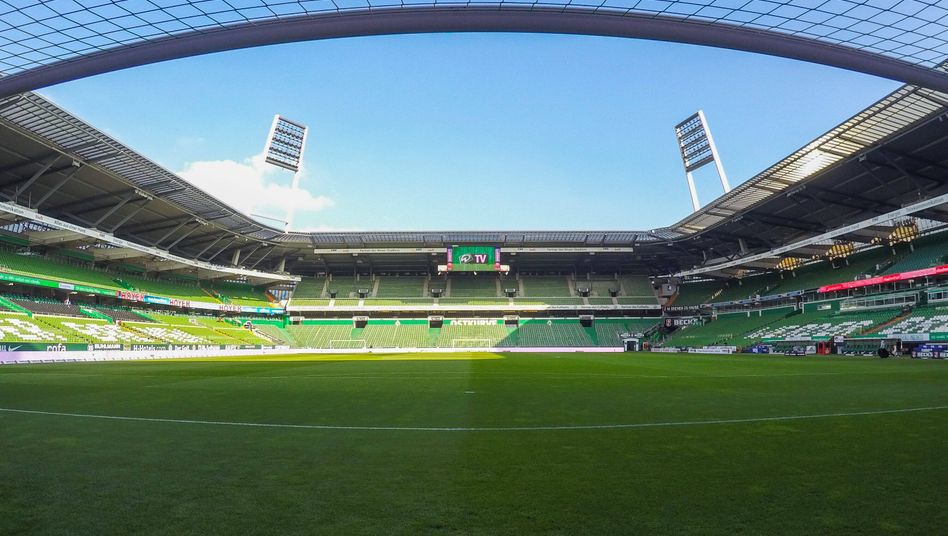 Leeres Bundesliga-Stadion in Bremen