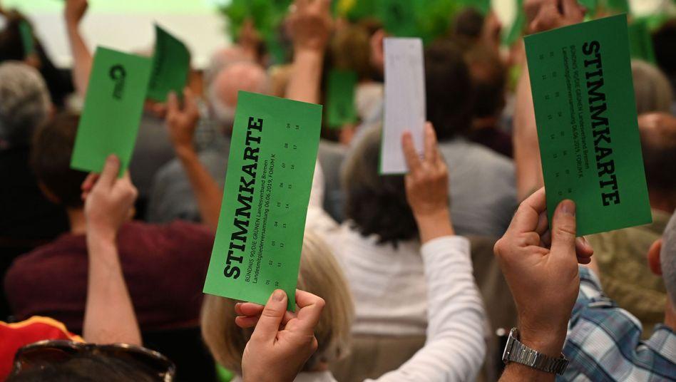 Grüne Stimmkarten für eine rot-grün-rote Zukunft in Bremen?