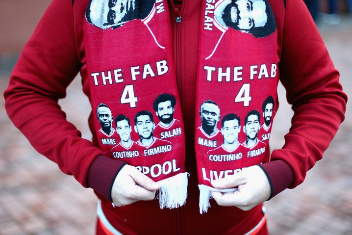Fab-Four-Fanschal in Liverpool