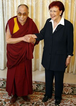 Dalai Lama und Ministerin Wieczorek-Zeul: Umstrittenes Treffen