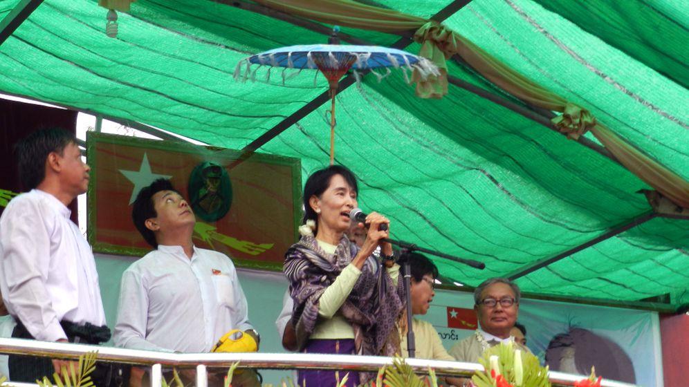 Burmas Nationalheldin: Wahlkampf mit Aung San Suu Kyi