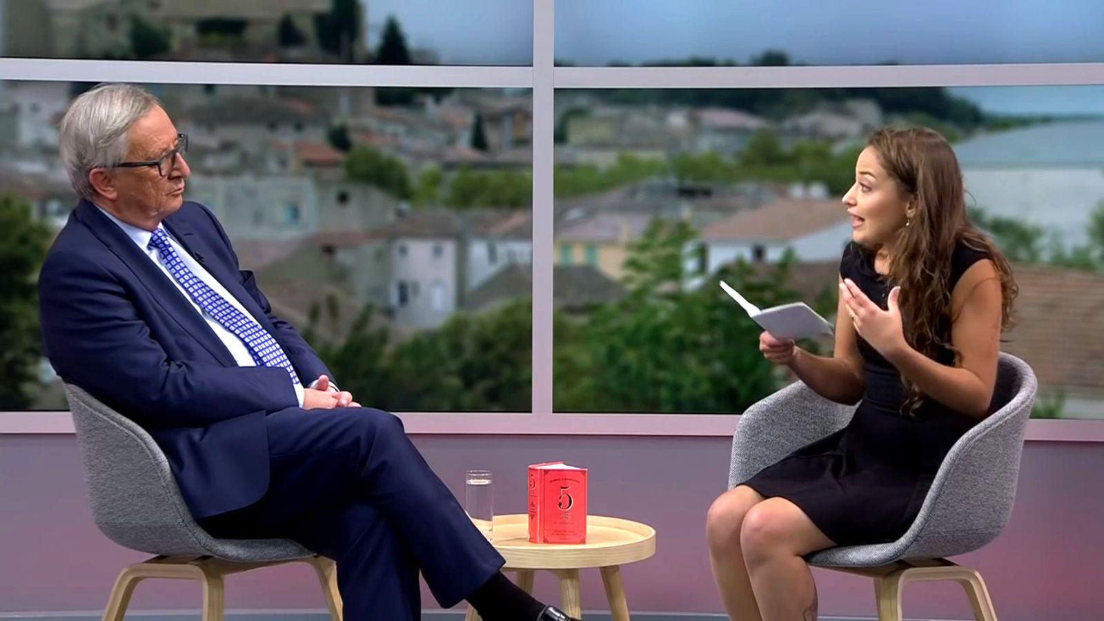 NUR ALS ZITAT Screenshot YouTube Interview mit President Juncker/ Nadji