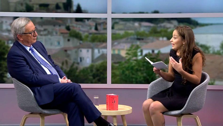 Nadji im Interview mit Juncker