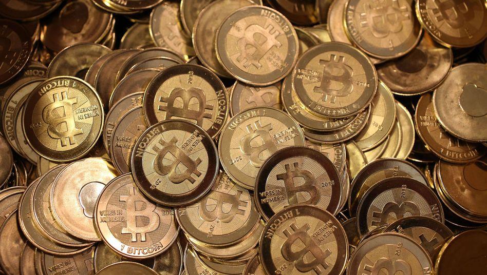 Bitcoins in Münzenform: Virtuelle Währung könnte Spektrum der Zahlungsmittel erweitern